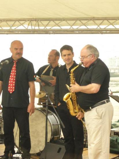 Claude Avenel, Gérard Delloue, Loïc Séron et Daniel Huck.